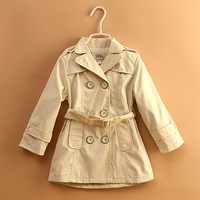 Free Shipping ! Wholesale Children's clothing 2013 Autumn Winter baby girl's windbreaker girls Coat &Jacket Trench #C8802