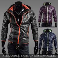 Free Shipping!New 2014 Summer Brand Sports Slim Male Coat.Men Jackets.Quick Dry&Anti Wind&Anti-UV Thin Outdoor Sports Jacket