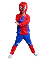 Discount Christmas Superman spiderman batman Costumes for Kids Children boy superhero suits clothes Cosplay Clothes For Boys