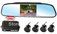 3.5 Inch Wireless Car Backup Radar LCD Displaying,4 Sensors detector,Car Wireless Reverse Mirror