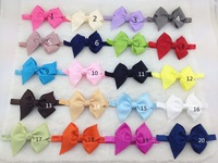 50pcs/lot wholesale 20 colors ,4.3 inch BIG  hair bows, elastics for the hairbands,headbands for girls