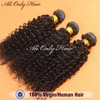 queen weave beauty cheap eurasian hair kinky curly 100% human hair extension 3 pcs/4 pcs lot mixed length 8- 30inch Grade AAAA