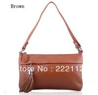 Fashion Tassel Women Genuine Leather Designers Brand Handbags New 2014 Real Cowhide Women Messenger Bag Shoulder Cross Body Bags