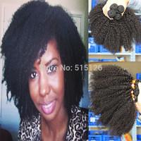 Brazilian virgin hair afro kinky curly hair 4 pcs lot free shipping rosa hair products unprocessed kinky curly virgin hair