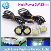 2pcs/lot High Power parking light 3W 23mm car light source  Eagle Eye car Led light Daytime Lights DRL led Lamp