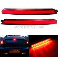 Red lens LED Bumper Reflectors As Rear Fog Bulbs Taillight Braking Lights For 1st Gen 04-09 Mazda3