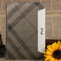 Brown Lattice wholesale Hot Leather cover for ipad mini 10pcs/lot Luxury case for ipad 7.9'' Tablet cover