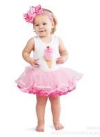 In Stock! 2013 New Arrive Baby Girls Angel Dress Elegant Kids Novelty lace Cream Gown Dress Children Chiffon Dress