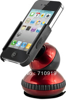 T20488a Universal Car Windshield Bracket 360 Degree Rotating Ball Joint Mobile Phone Holder Stands for iPhone 4/5