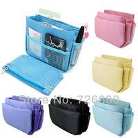 Free shipping! Hot sale Superdeal Multifunction Lady Cosmetic Bag Handbag Organiser Large Insert Storage Organizer 128-0302