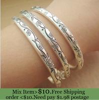 ZH0596 IVY Store  European-style wholesale vintage Tibetan silver bracelet solid thin section  bracelet