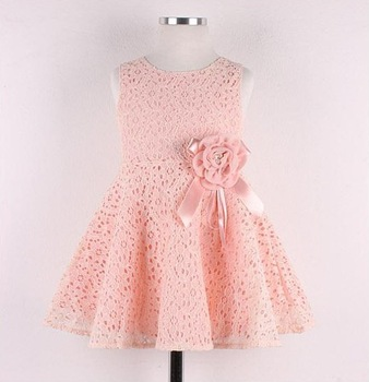 Free Shipping! 2014 Summer New girls dress,bow princess dress,Children lace dress,kids noble  fairy dress high quality 5pcs/lot