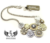 Free shipping NEW Fashion vintage necklaces for women Round Shape Choker Necklace ES-007