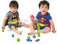 1 piece Baby Romper Superman Batman Super Girl Short Sleeve Clothing Sets Dress Smock Infant Costume Wear