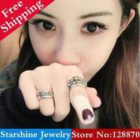 Min Order $5 Mix PL05204 bigbang gd punk cross ring finger ring