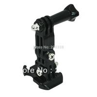 3-way Adjustment Base gopro mount adapter base for Gopro Hero2 Hero 3 Elastic Body Chest Strap holder Mount Belt Black