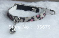C021 Leopard Short Hair Material Pet Cat Teddy Dog Collar Pet Products Drop Shipping Factory Produce Fast Shipping