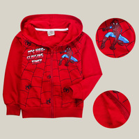 Kids Outfit Boys Grils Zip Hoodie Tops Spiderman Red Coats Jackets Size 2-8 Year