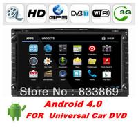 "HD 2din 7 ""Android 4.0 Universal Car DVD Player GPS navi WIFI/3G 3D UI PIP stereo Radio TV + Free WIFI dongle 4G map card"