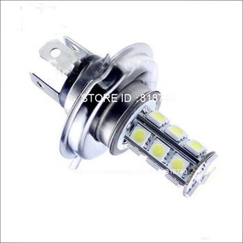 New Hot sale,Free shipping auto car led light bulb 10pcs/lot Car 18 5050 LED SMD Xenon White Bulbs H4 Fog Light 12V
