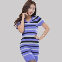 2014 NEW long sweater women designer plus size dress style Autumn and winter fashion coat korean crew neck bottoming shirt Slim