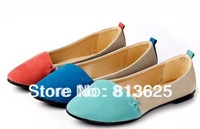 2014 spring and autumn boat shoes the wedding pointed toe flat female flat heel shoes female flat women shoes