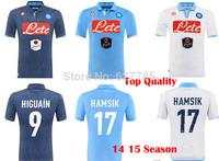 2015 Napoli Third Away camouflage Soccer Jersey  14 15 Napoli Home Blue&Away White  HIGUAIN  CALLEJON HAMSIK Shirt Free Shipping