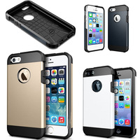 High Quality PC+Silicone Champagne Gold SGP SPIGEN Tough Armor Color Case Cover for iPhone 5 5G 5S Free Shipping 10pcs/lot