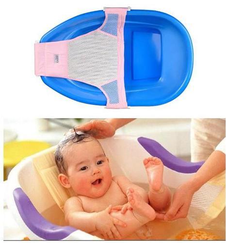 Baby kid bath bed soft slip-resistant bath net mesh sling rack shower plate baby seat bath massage T Shape Netlike bed(China (Mainland))