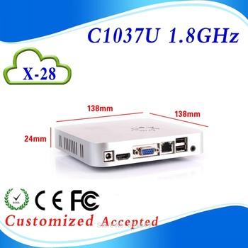 INTEL C1037U Celeron Dual-core 1.8GHz mini computer celeron 1037u mini pc linux with 4*USB2.0, 1*HDMI 1.3,  1*VGA,