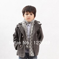 Children's wear double-breasted coat boys cloth of new fund of 2014 autumn winters is upset to keep warm jacket, free shipping