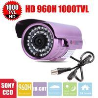 Vanxse CCTV 36IR 1/3 Sony CCD 1000TVL Security Camera 3.6mm lens outdoor surveillance Camera