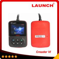 2014 OBD2 Scanner launch creader vi code reader CreaderVI Original update online directly Creader 6 free shipping