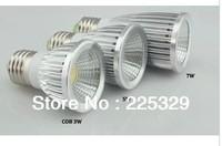 Ultra Bright MR16/GU10/E27 Dimmable led COB Spot down light lamp bulb 6W