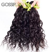 rosa hair company brazilian virgin hair natural wave 2pcs free shipping brazilian hair weave bundles natural black color