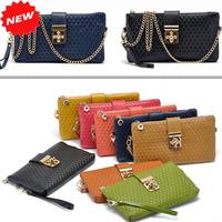 100% Genuine Leather Women Handbag Fashion Cross Button Evening Clutch Casual  Plaid Shoulder Messenger Chain Bag,ANS-SL-70