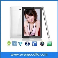 9 inch P2000 GSM phone calling tablet with SIM 1.2GHz 256MB RAM MTK6572 dual camera 2.0MP dual SIM card slots tablet pc
