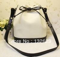 2013 New Bucket Leather Bag, Shoulder Bag Diagonal Dual-Use Package Casual Leather Bags, Leather Bucket Bag,Free Shiping