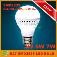 5pieces/lot Led lighting E27 SMD2835 led lamp bulb energy saving lamp 3w/5w/7w AC220V/230V/240V