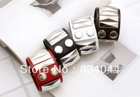 Min Order Free Shipping Rivet Leather Candy Color 9.25*1.57inch Punk Fashion  Wrap Bracelet