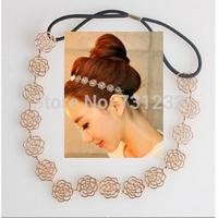 2014  fashion Hollow  rose fower headband  girls hair accessories wholesale 24 pcs/lot  free shipping