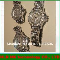 Korean fashion diamond just bling watch bling bracelet hand luxury Silver ladies watches