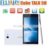 Post Free Cube A5300 Talk 5H MTK6589 Quad Core 3G mobile phone 5.5'' Dual Camera Dual SIM Android 4.2 Bluetooth GPS 1G/4G 5 h