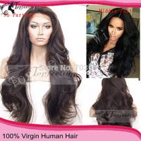 Free Shipping 26''Long Wavy130-150Density Brazilian Body Wave Full Lace Human Hair Wigs/Glueless Lace Front Wig For Black Women
