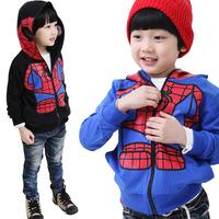 New 2013 Children Spiderman  Design Kids Boys Toddlers Shirts Top Zipper Hoodies Jumper Age 2-6