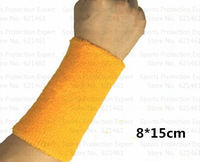 free shipping 4pcs/lot  8cmX15cm cotton Sports Band WristbandWrist Support Protector for Basketball/Tennis/Volleyball/Badminton