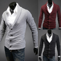 2013 New Mens Knitwear Man Knitting Thin Sweater Slim Casual Sweater Coat Cotton Clothing