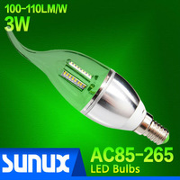 Free Shipping 4 Pieces/Lot 3W LED Bulb SMD3014 100~110LM/W Warm White 3000~3200K \ Cold White 6000~6500K