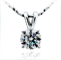 Semi mount Pendant for women,SONA synthetic Diamond Wedding Pendant&necklace,925 Sterling Silver white gold plated