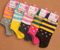 Free Shipping Colored Ankle Socks/ No Show Socks For Women/No Show Socks 5pairs/A Lot
